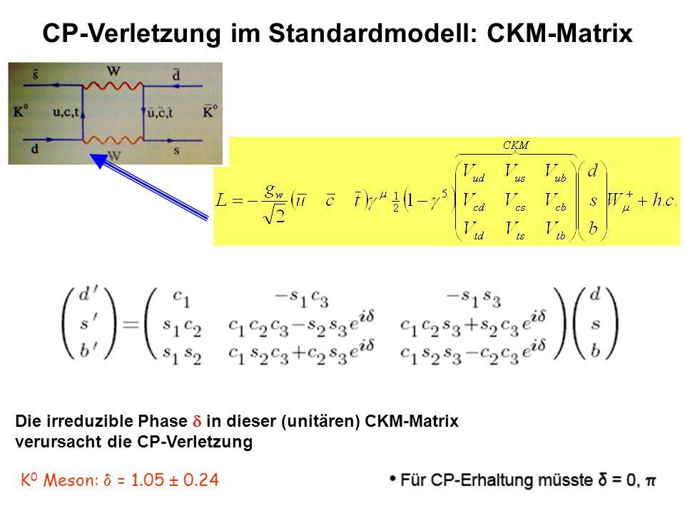 CP-Verletzung im Standardmodell: CKM-Matrix