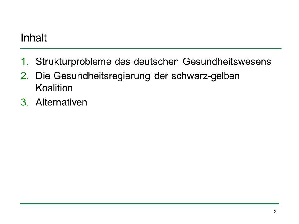 Inhalt Strukturprobleme des deutschen Gesundheitswesens
