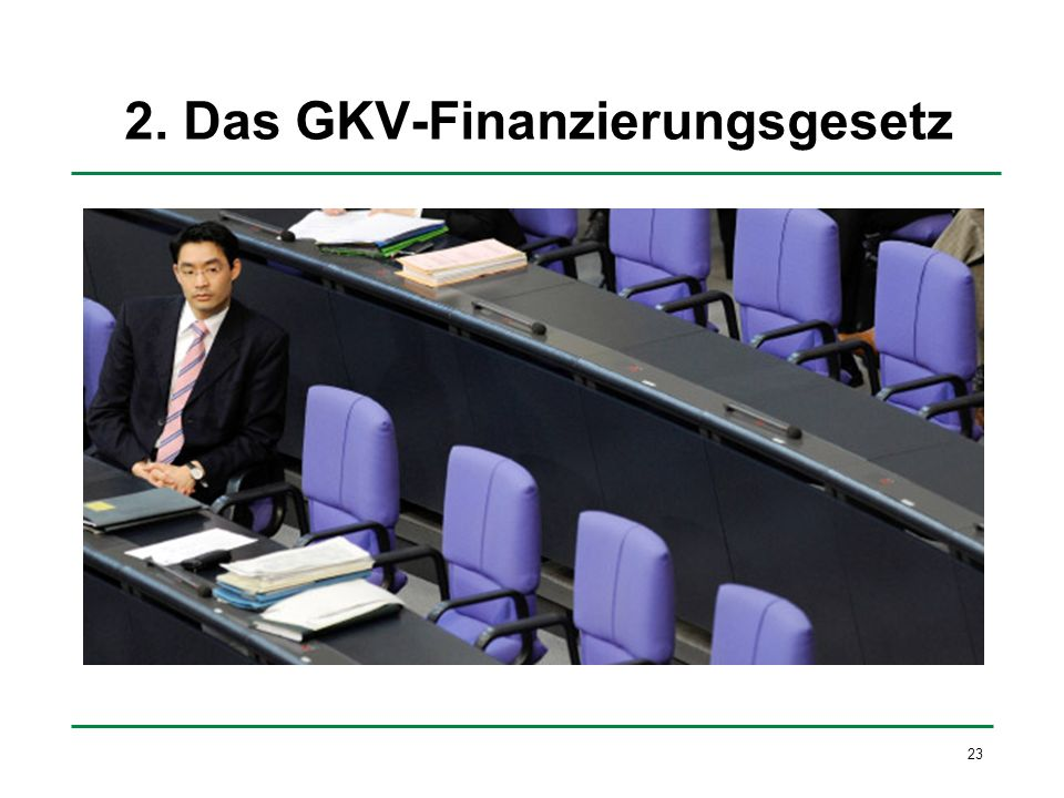 2. Das GKV-Finanzierungsgesetz