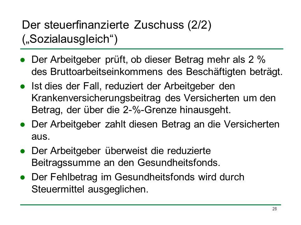 """Der steuerfinanzierte Zuschuss (2/2) (""""Sozialausgleich )"""