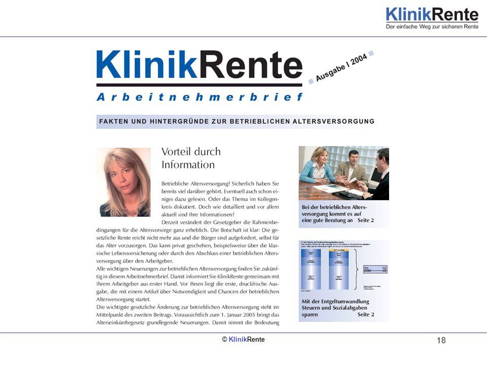 KlinikRente-Arbeitnehmerbrief erscheint zweimal pro Jahr