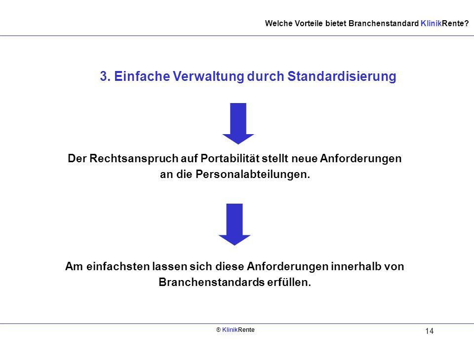 3. Einfache Verwaltung durch Standardisierung