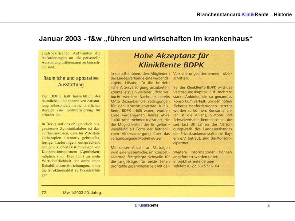 """Januar 2003 - f&w """"führen und wirtschaften im krankenhaus"""