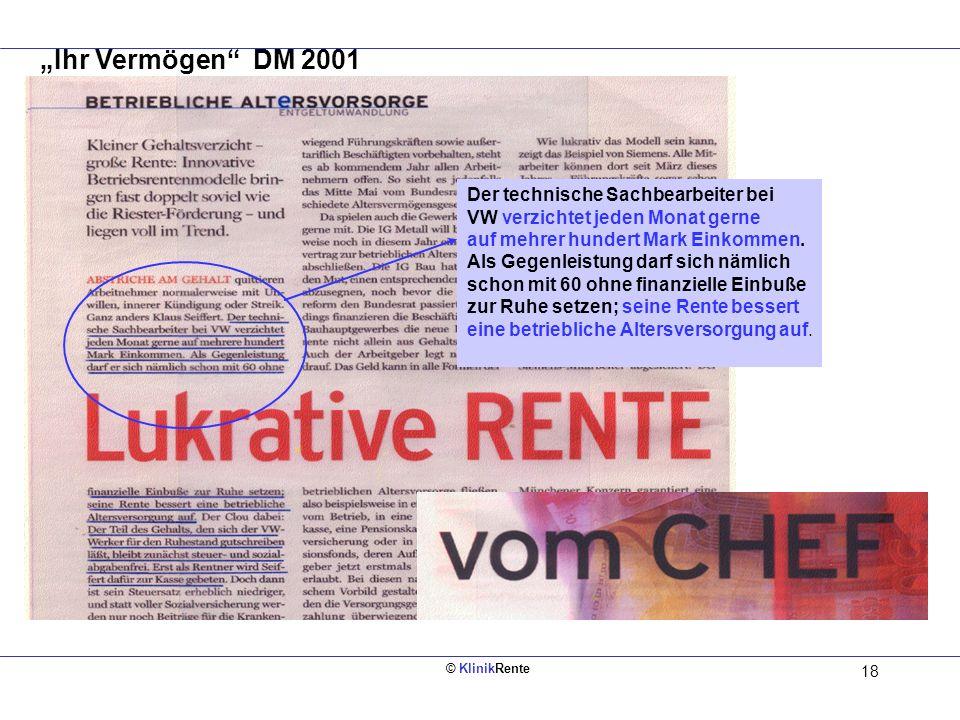"""""""Ihr Vermögen DM 2001 Der technische Sachbearbeiter bei"""