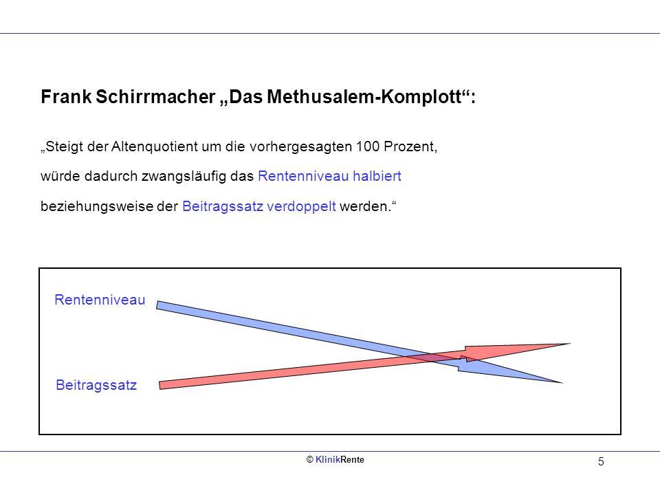 """Frank Schirrmacher """"Das Methusalem-Komplott :"""