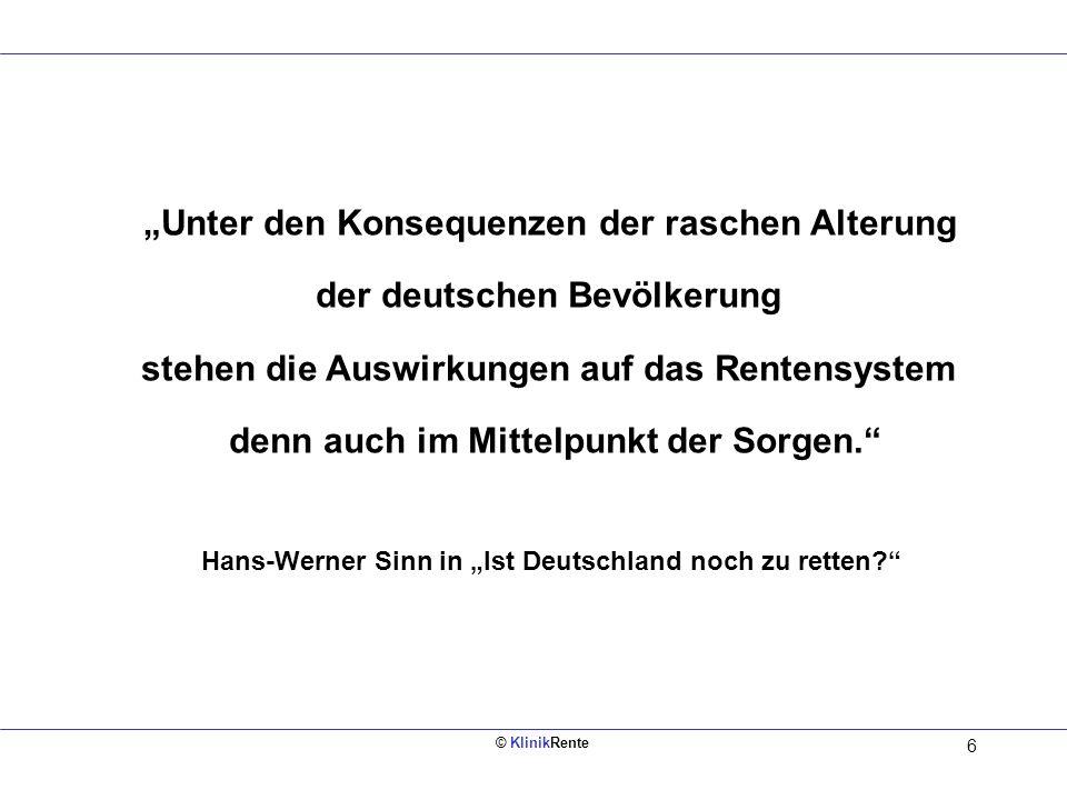 """""""Unter den Konsequenzen der raschen Alterung der deutschen Bevölkerung"""