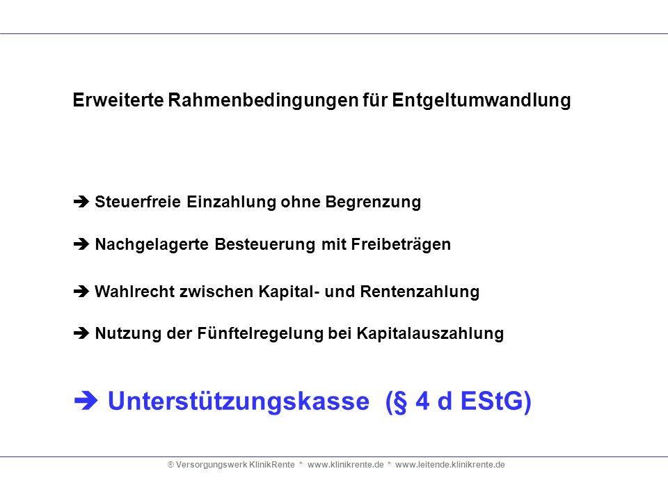  Unterstützungskasse (§ 4 d EStG)