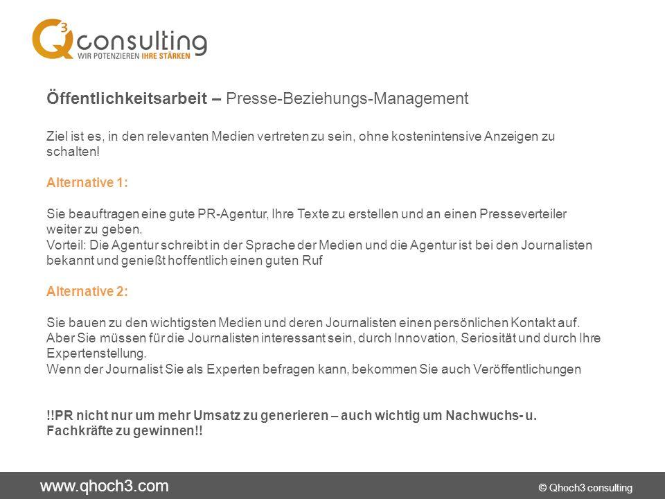 Öffentlichkeitsarbeit – Presse-Beziehungs-Management