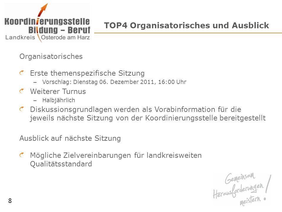 TOP4 Organisatorisches und Ausblick
