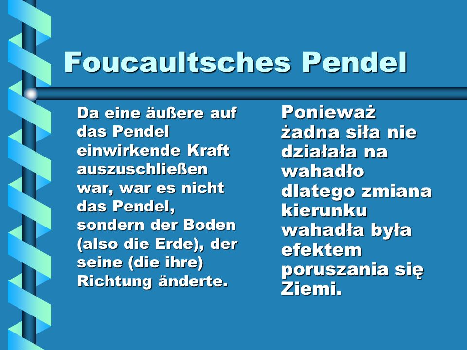 Foucaultsches Pendel