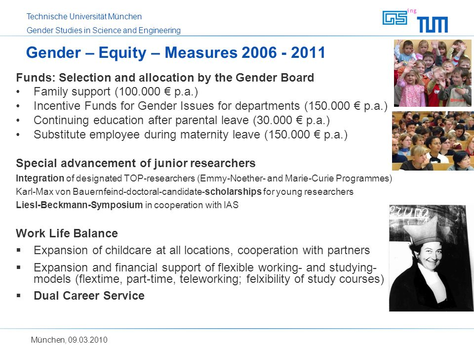 Gender – Equity – Measures 2006 - 2011