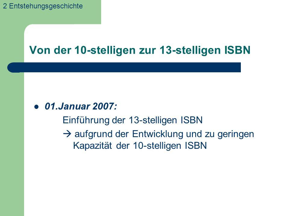 Von der 10-stelligen zur 13-stelligen ISBN