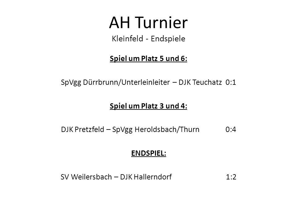 AH Turnier Kleinfeld - Endspiele