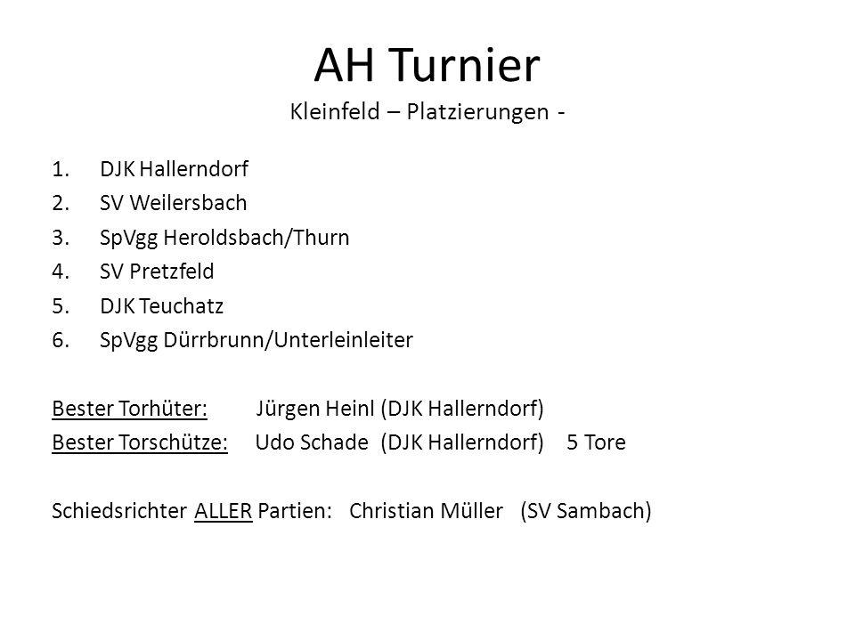 AH Turnier Kleinfeld – Platzierungen -