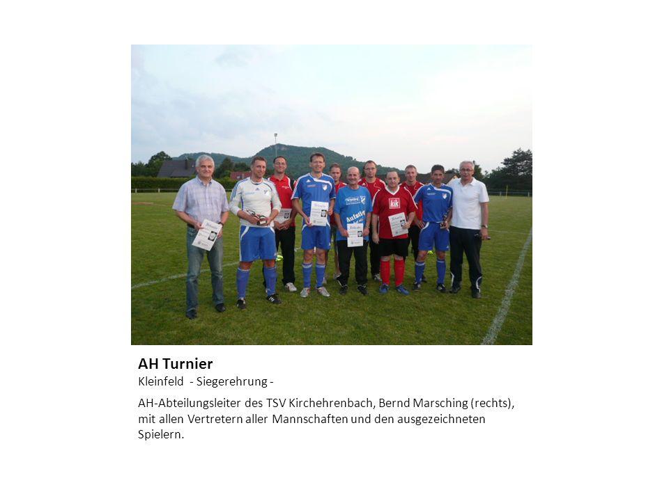 AH Turnier Kleinfeld - Siegerehrung -