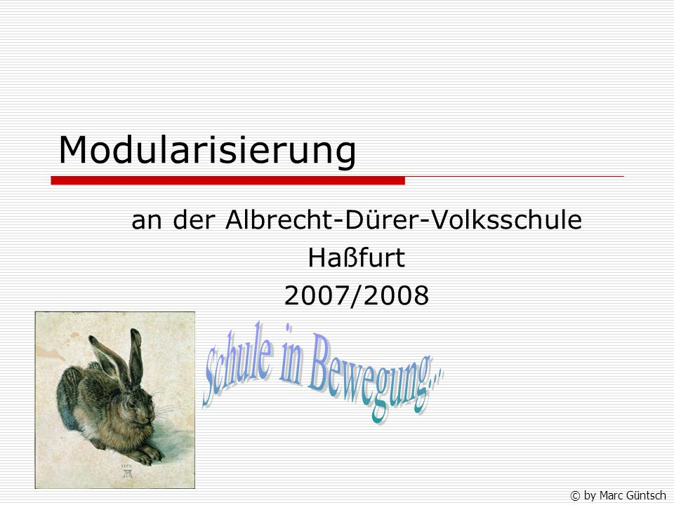 an der Albrecht-Dürer-Volksschule Haßfurt 2007/2008