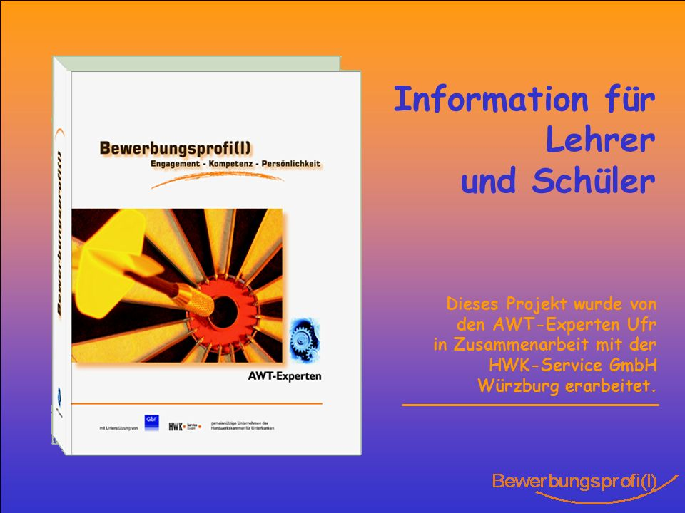 Information für Lehrer und Schüler