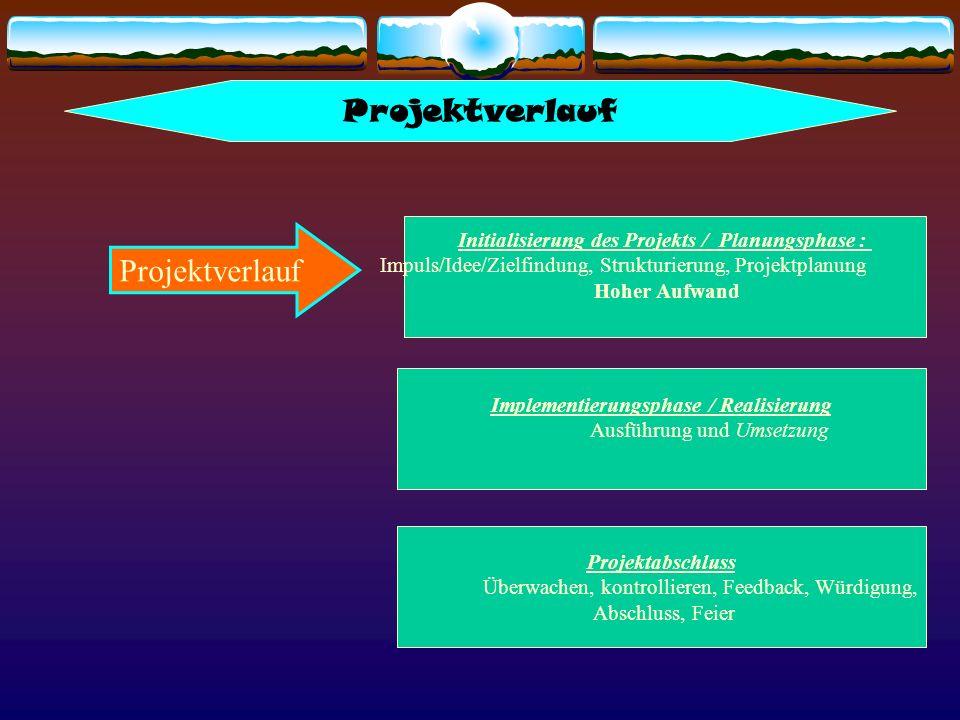 Projektverlauf Projektverlauf