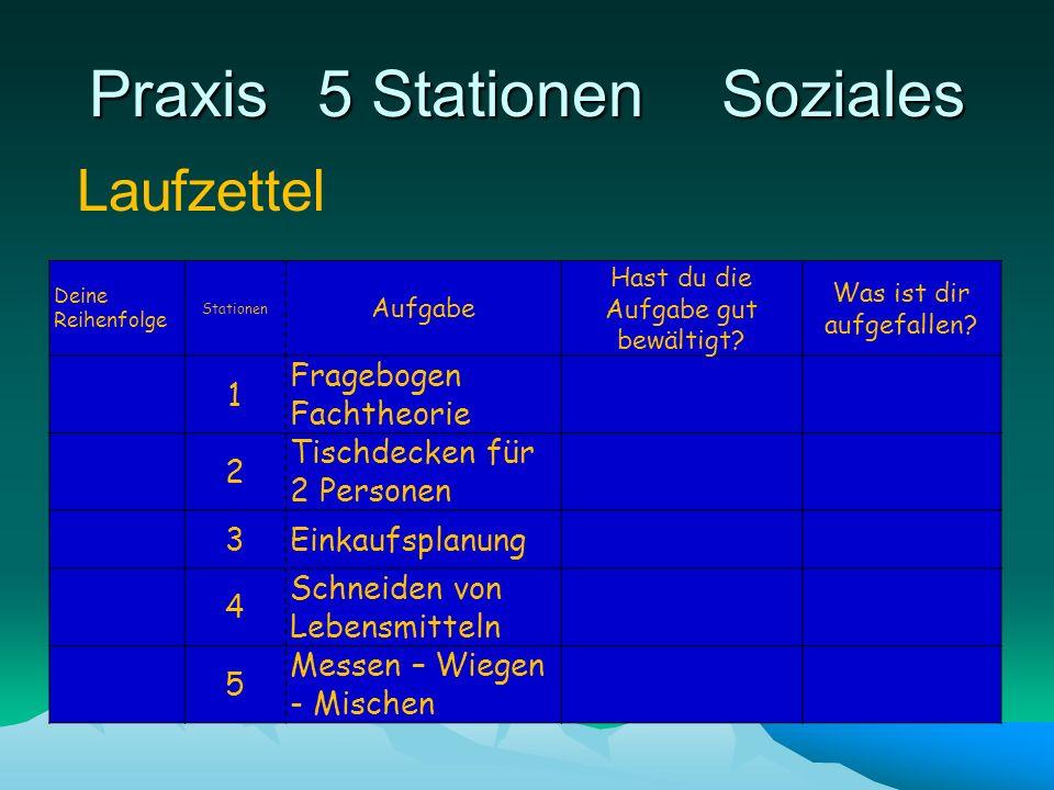 Praxis 5 Stationen Soziales