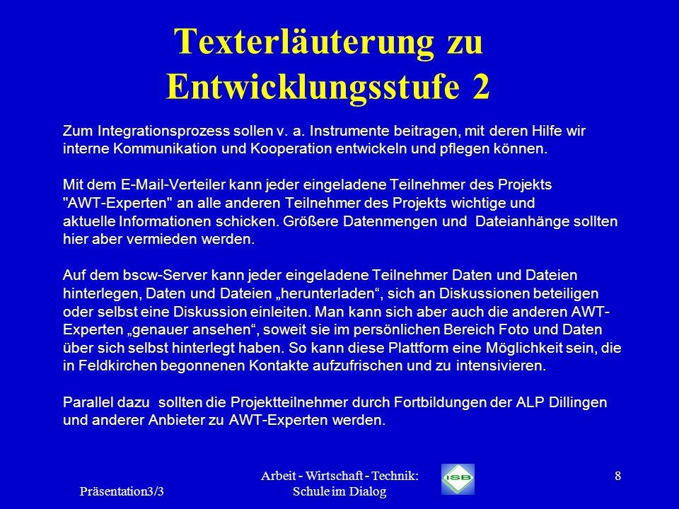 Texterläuterung zu Entwicklungsstufe 2