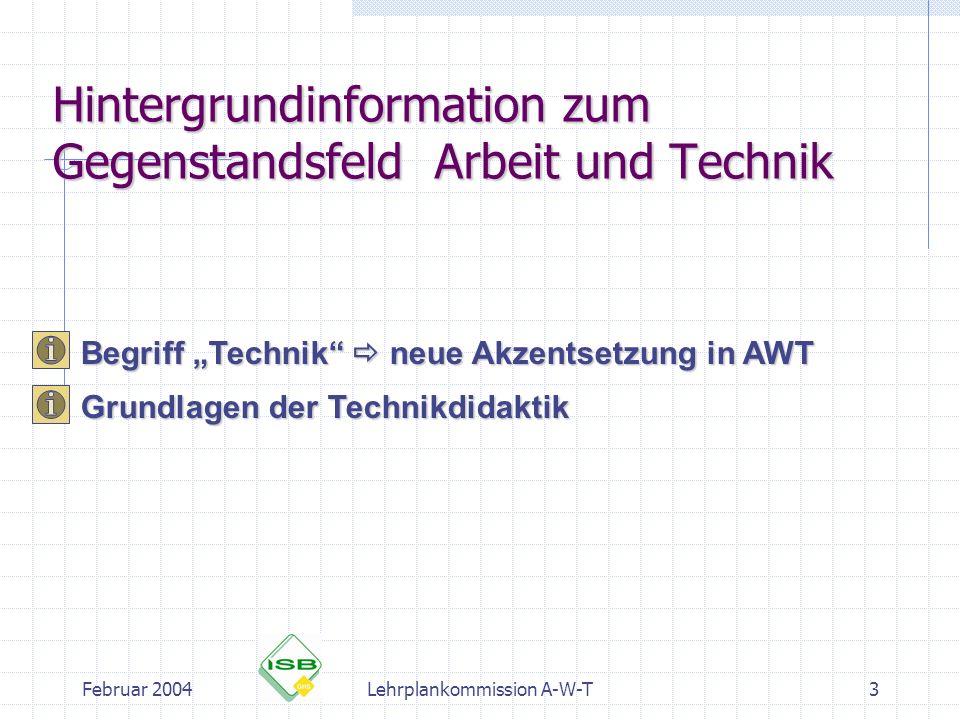 Hintergrundinformation zum Gegenstandsfeld Arbeit und Technik