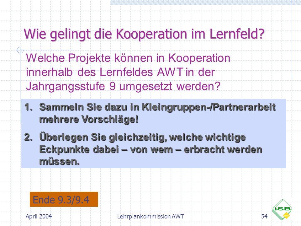 Wie gelingt die Kooperation im Lernfeld
