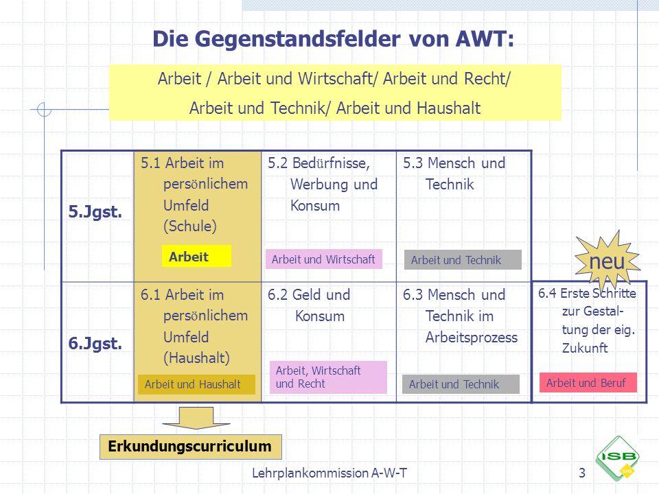 Die Gegenstandsfelder von AWT: