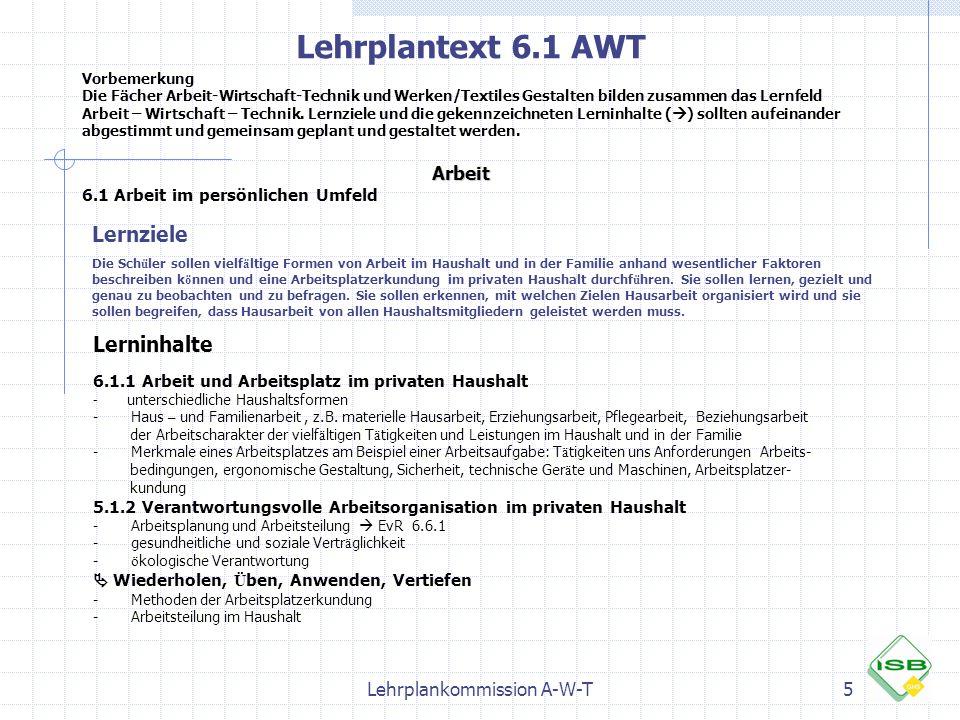 Lehrplankommission A-W-T