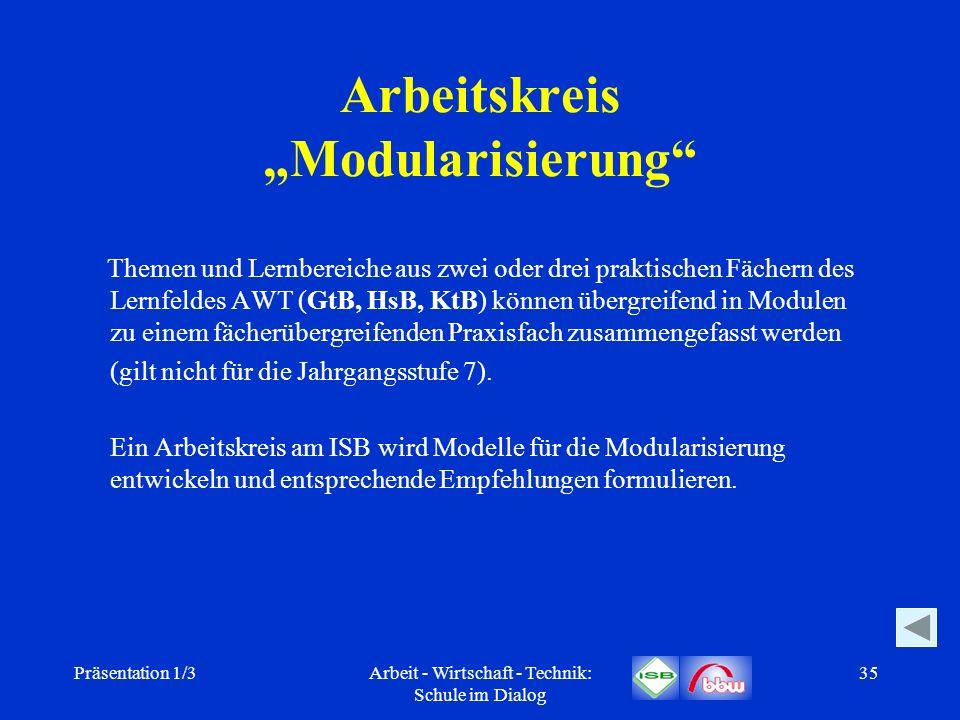"Arbeitskreis ""Modularisierung"