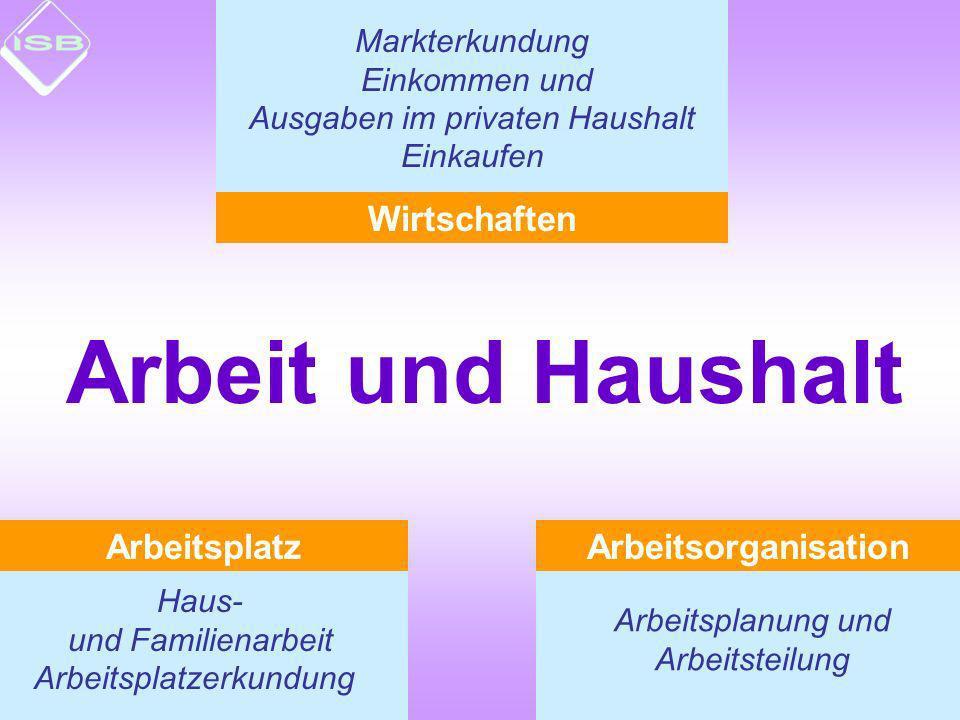 Arbeit und Haushalt Wirtschaften Arbeitsplatz Arbeitsorganisation