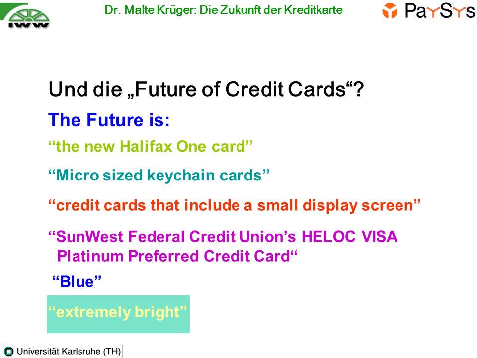 """Und die """"Future of Credit Cards"""