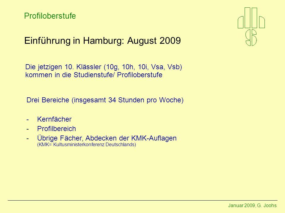 Einführung in Hamburg: August 2009