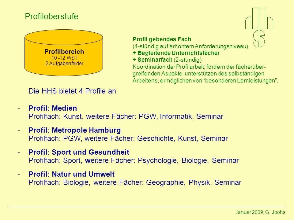 Die HHS bietet 4 Profile an