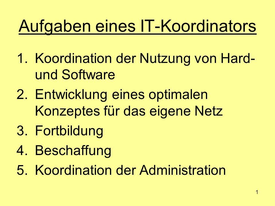 Aufgaben eines IT-Koordinators