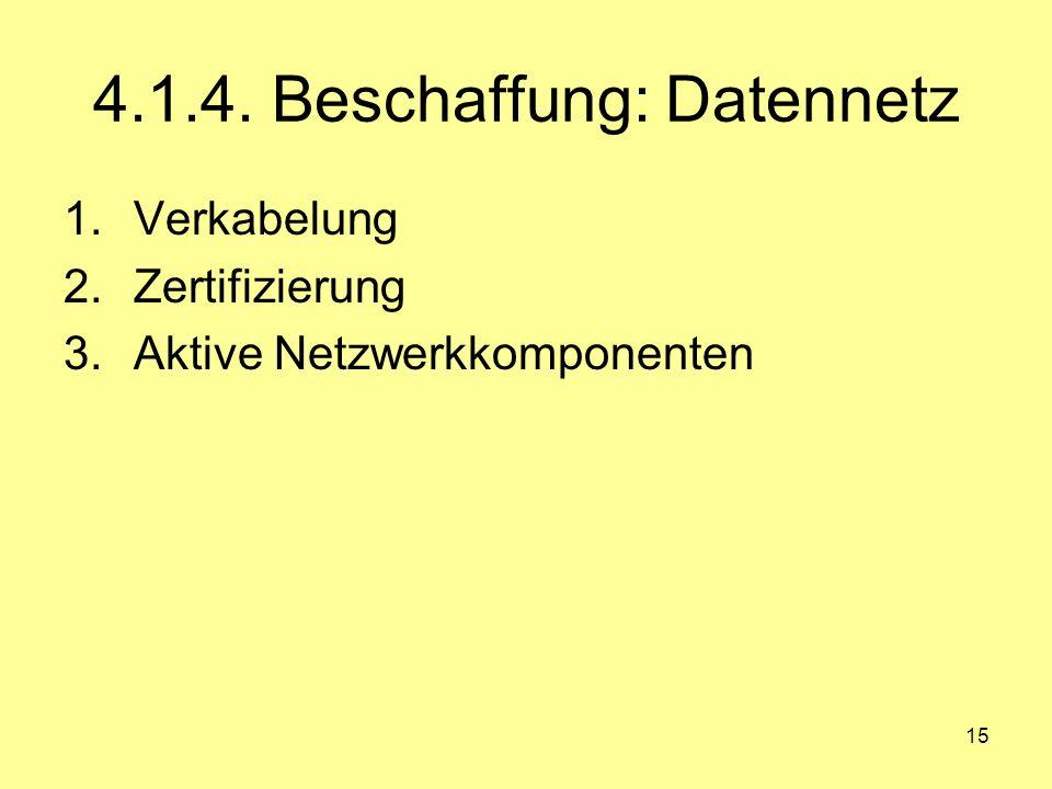 4.1.4. Beschaffung: Datennetz