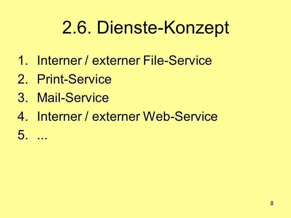 2.6. Dienste-Konzept Interner / externer File-Service Print-Service