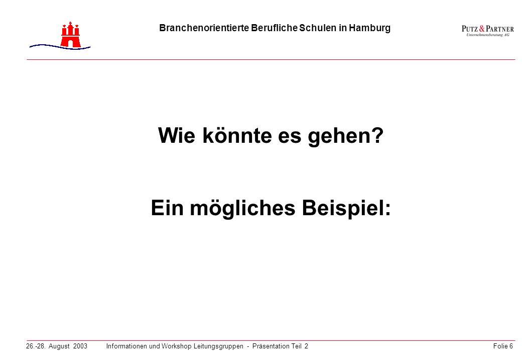 Branchenorientierte Berufliche Schulen in Hamburg