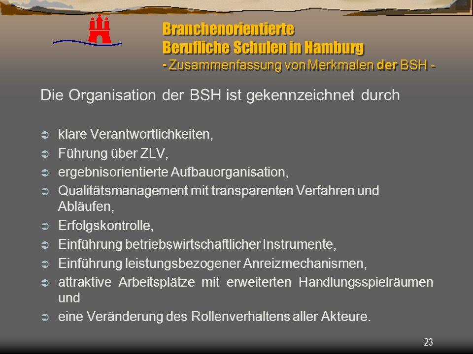 Die Organisation der BSH ist gekennzeichnet durch