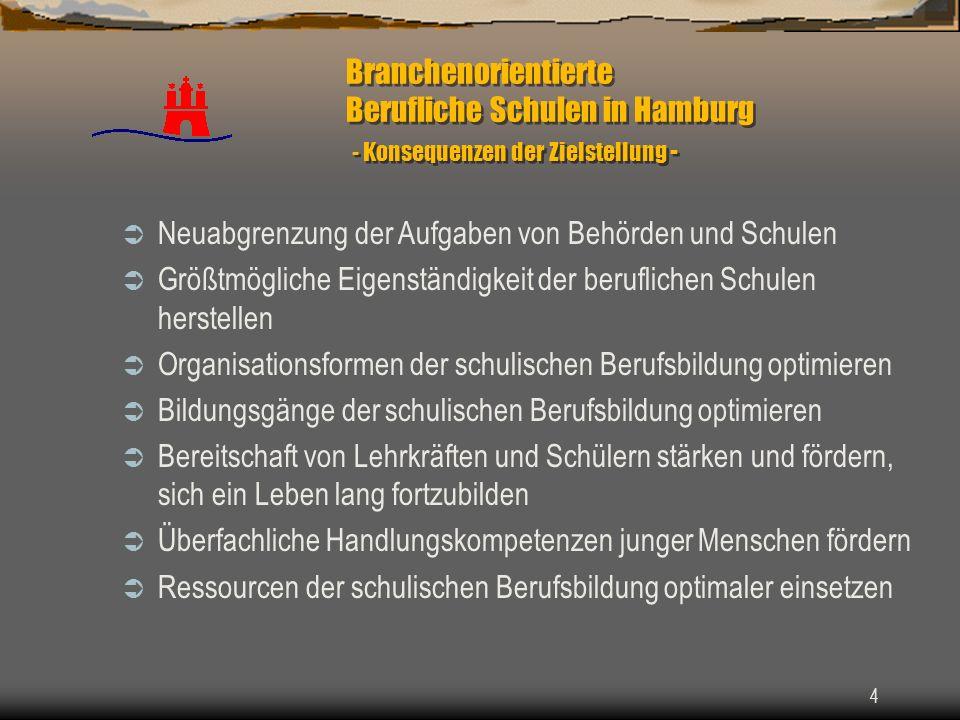 Branchenorientierte Berufliche Schulen in Hamburg - Konsequenzen der Zielstellung -