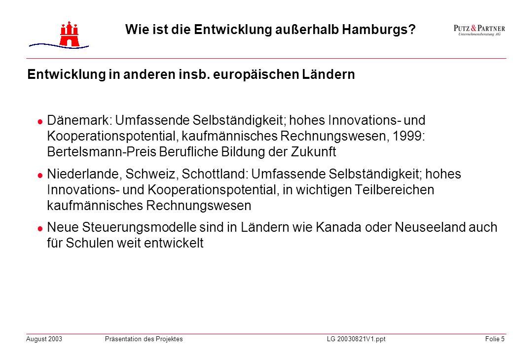 Wie ist die Entwicklung außerhalb Hamburgs