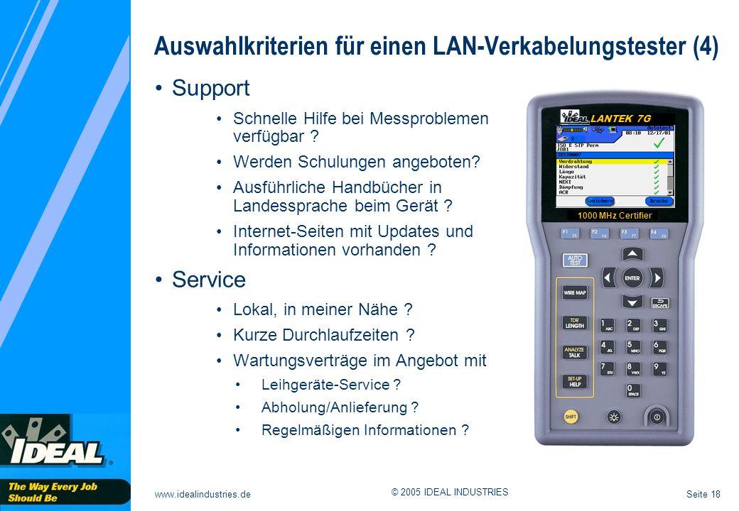 Auswahlkriterien für einen LAN-Verkabelungstester (4)