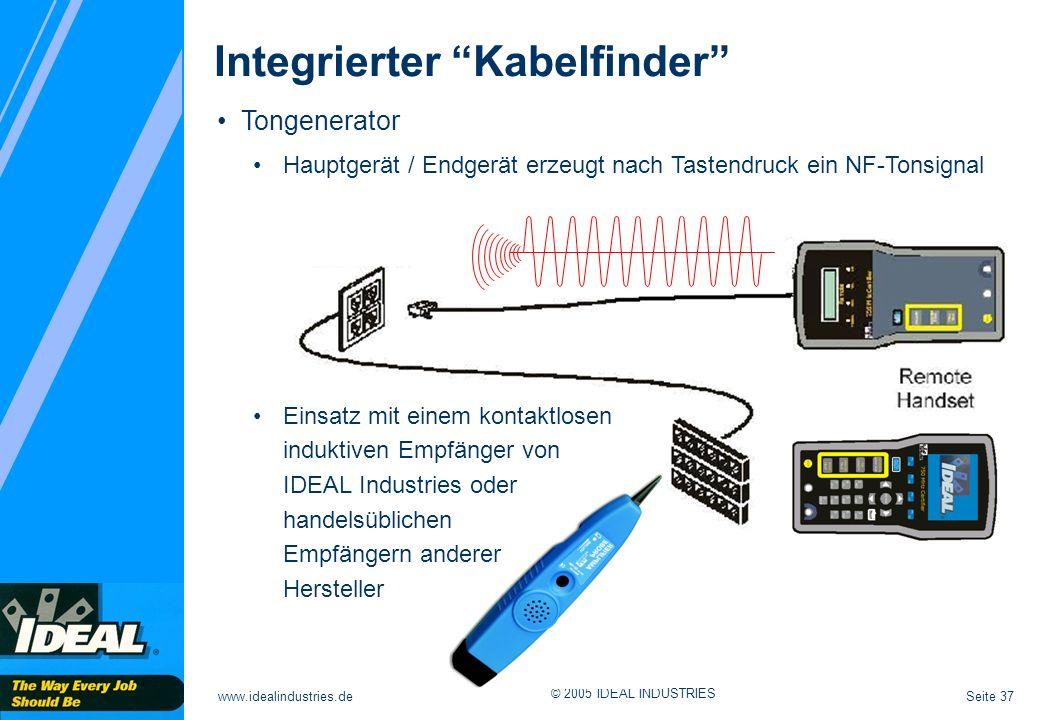 Integrierter Kabelfinder