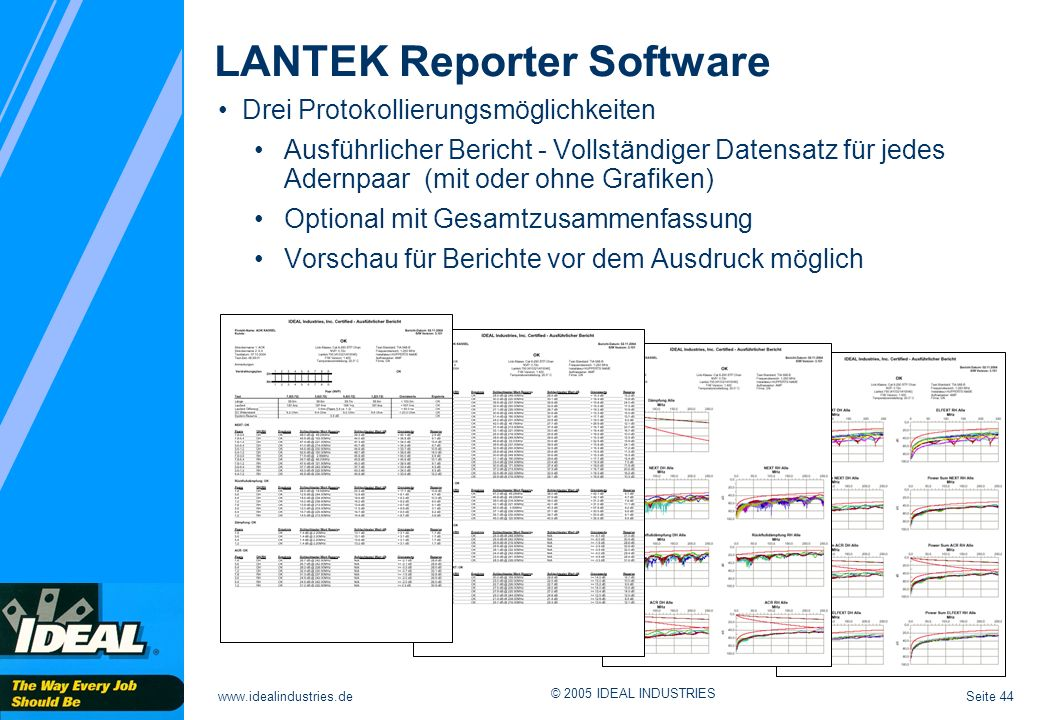 LANTEK Reporter Software