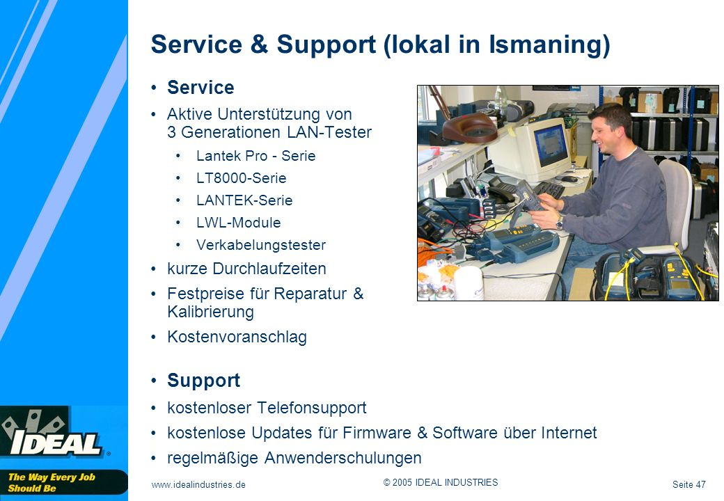 Service & Support (lokal in Ismaning)