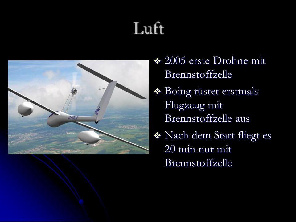 Luft 2005 erste Drohne mit Brennstoffzelle