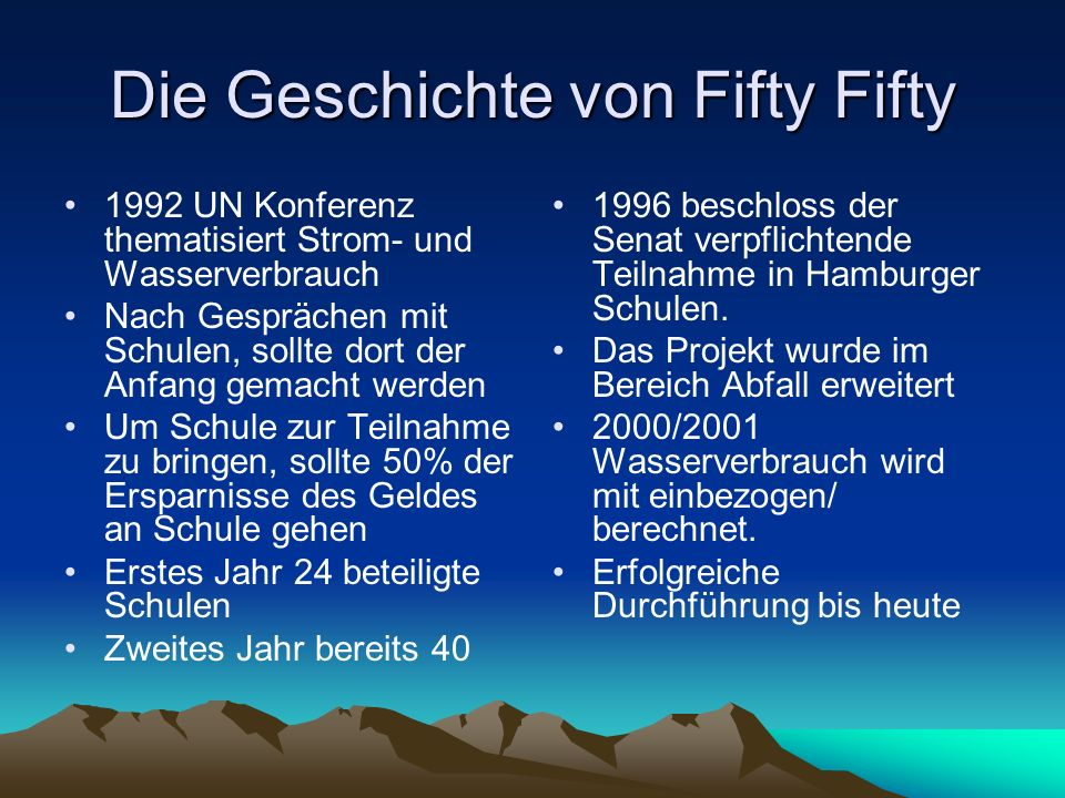 Die Geschichte von Fifty Fifty