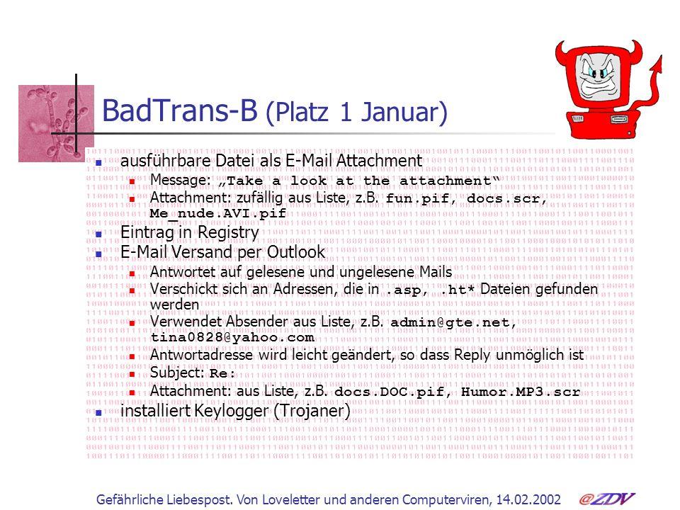 BadTrans-B (Platz 1 Januar)