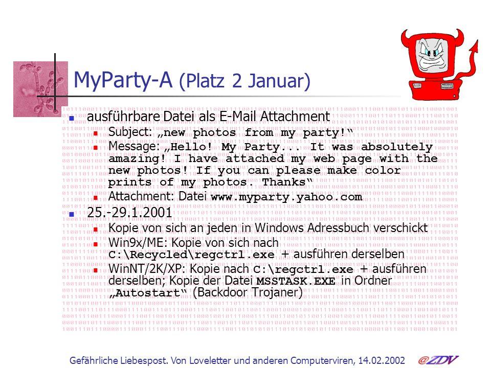 MyParty-A (Platz 2 Januar)