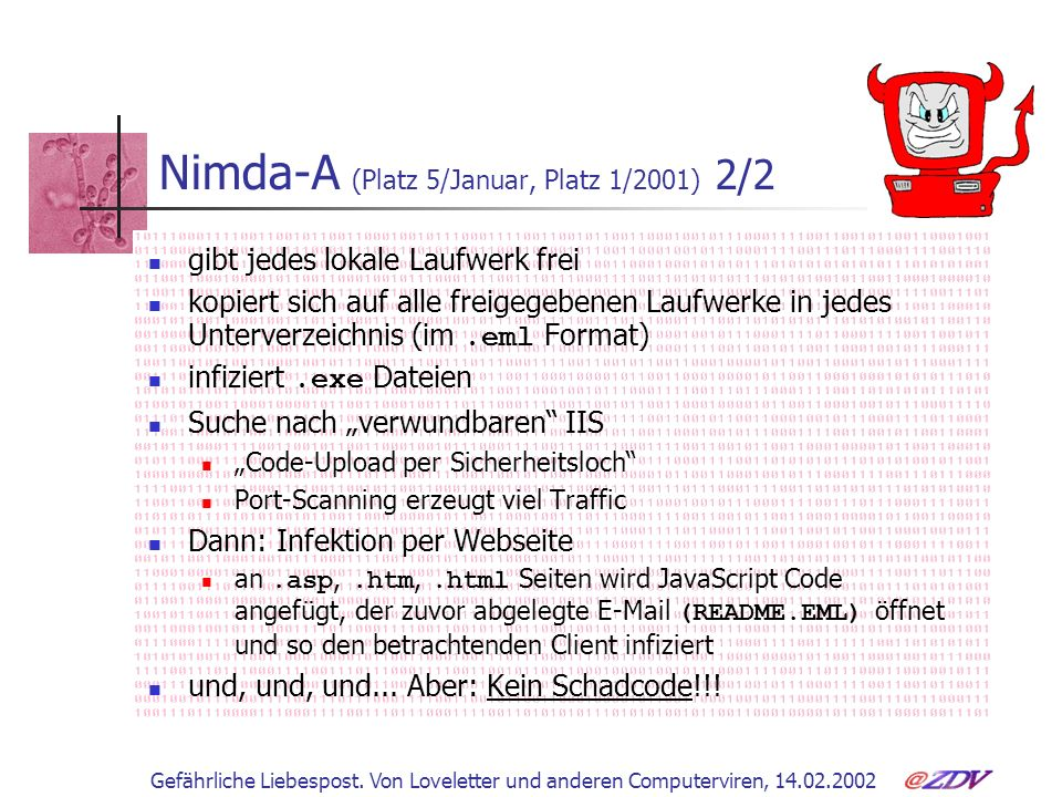 Nimda-A (Platz 5/Januar, Platz 1/2001) 2/2