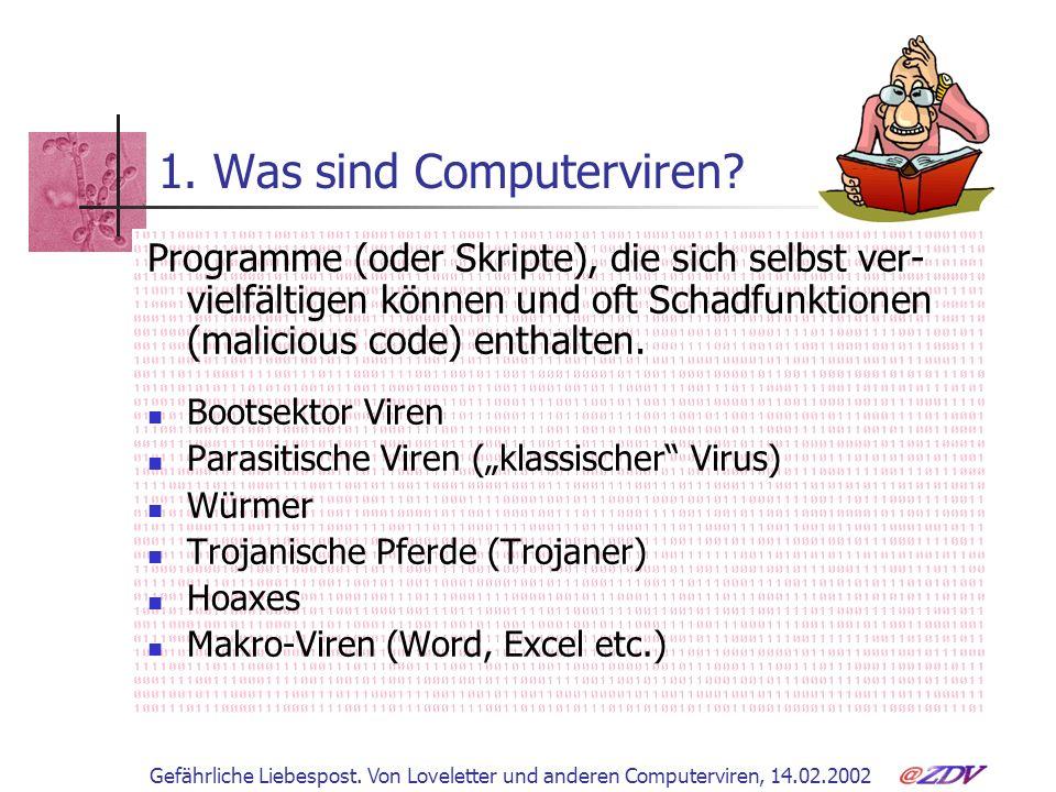 1. Was sind Computerviren